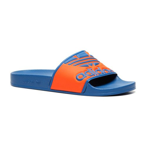 37f30ee3382 Adidas Adilette Trefoil slippers blauw/oranje Hardloopschoenen adidas