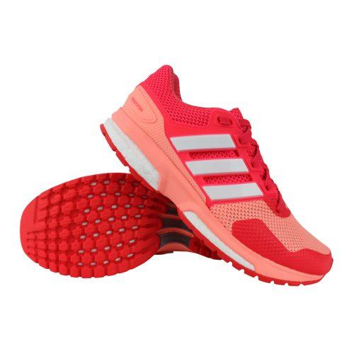 adidas Response BOOST 2 hardloopschoenen dames roze/wit Hardloopschoenen  adidas