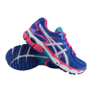 Asics Gel-Flux 2 hardloopschoenen dames blauw/roze
