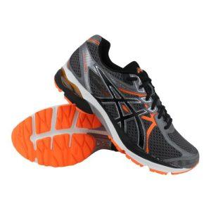 Asics Gel-Flux 3 hardloopschoenen heren grijs/zwart/oranje