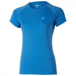Asics Stripe SS hardloopshirt dames blauw