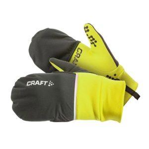 Craft Hybrid hardloophandschoenen unisex lime/zwart