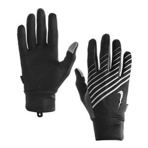 Nike hardloophandschoenen met smartphone-touch zwart/zilver