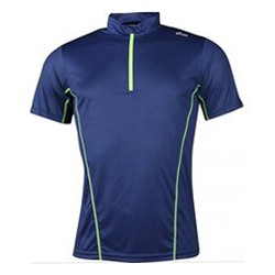 York Ron 2 hardloopshirt heren blauw/lime