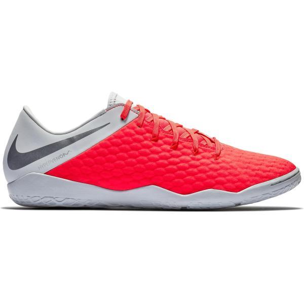 Nike Zaalvoetbalschoenen Hypervenom Phantom III Academy IC volwassenen grijs/rood