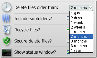 delete old files automatically