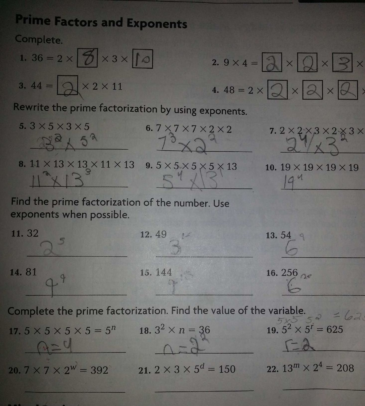 Homework Help Exponents In Word