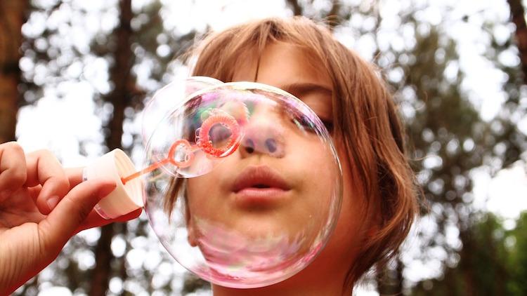 blow bubbles health education