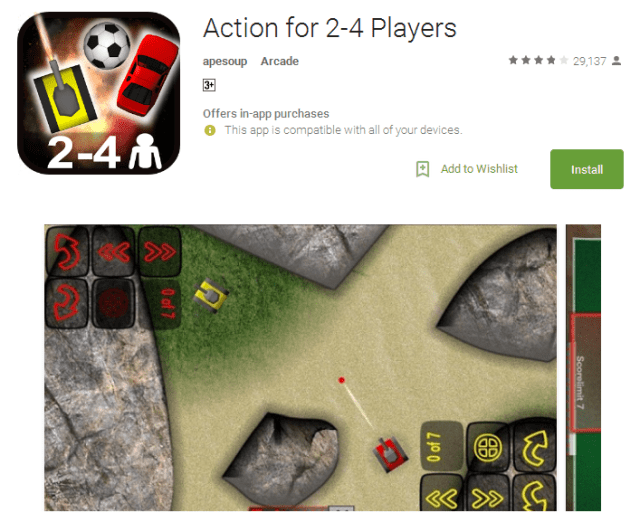 Action for 2 4 Players free Android game Apps