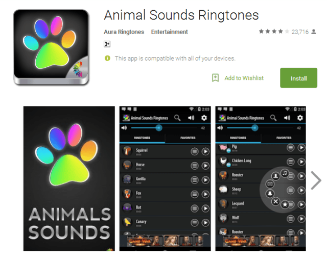 Animal Sounds Ringtones Android Apps