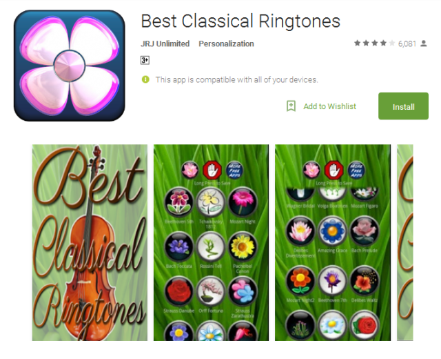 Best Classical Ringtones Android Apps