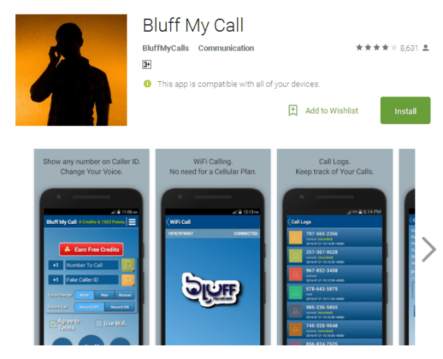 Bluff My Call voice changer app