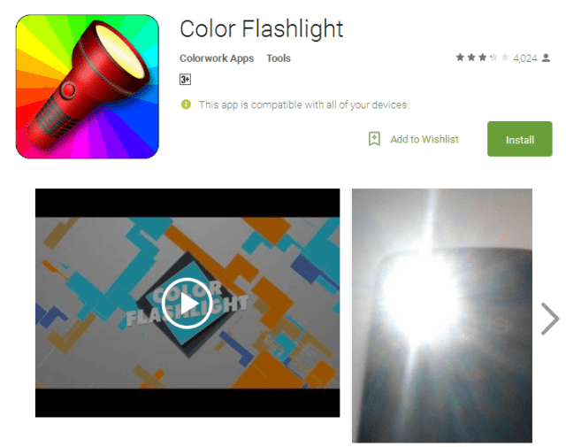 Color Flashlight best free flashlight apps for android
