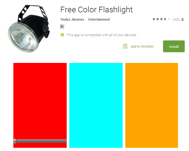 Free Color Flashlight free Android Apps