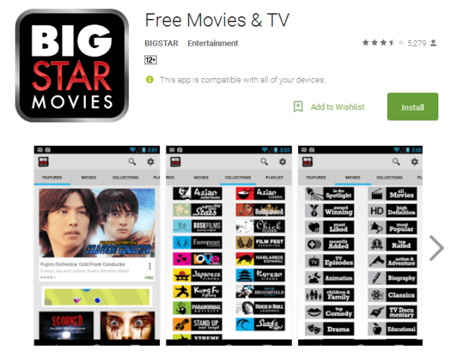 Free Movies TV Android Apps