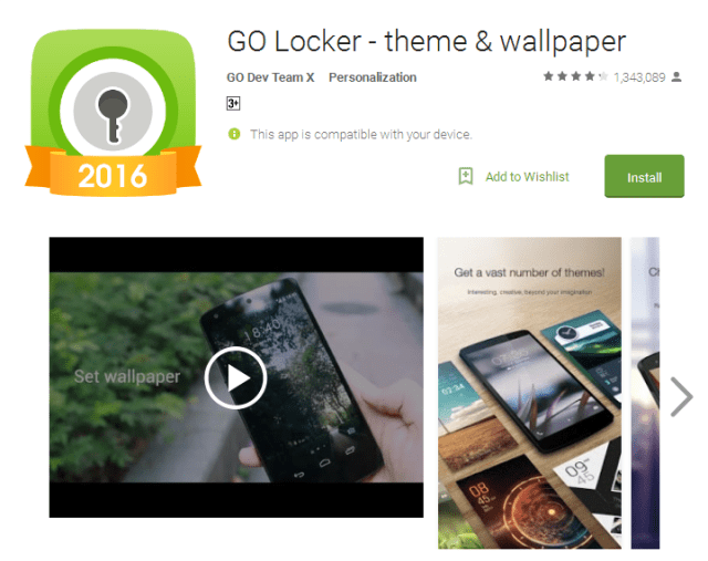 GO Locker lock screen apps for android