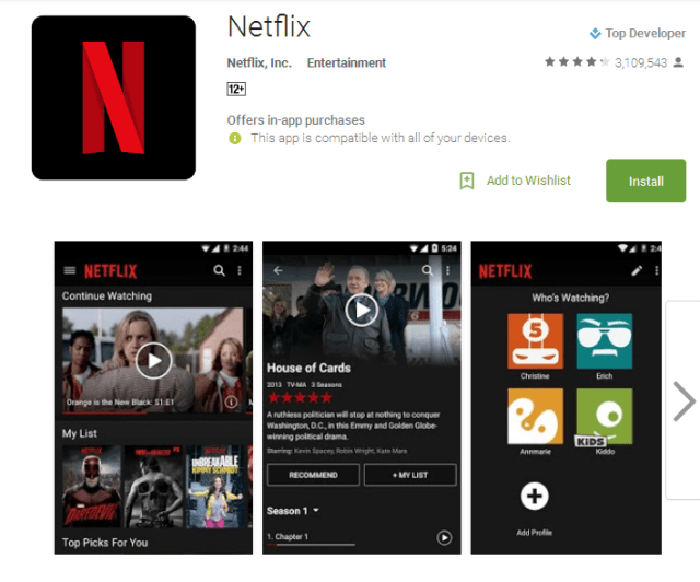 Netflix Movie apps for android