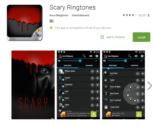 Scary Ringtones Android Apps