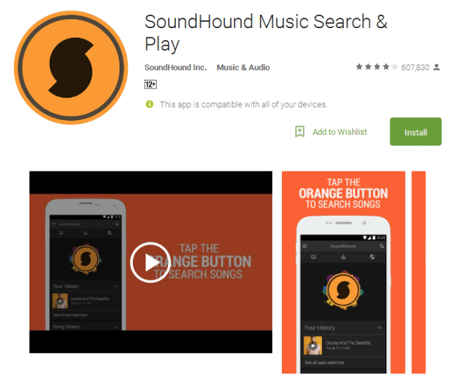 SoundHound Music Search Play Android App