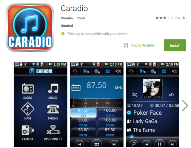 Caradio Android Apps