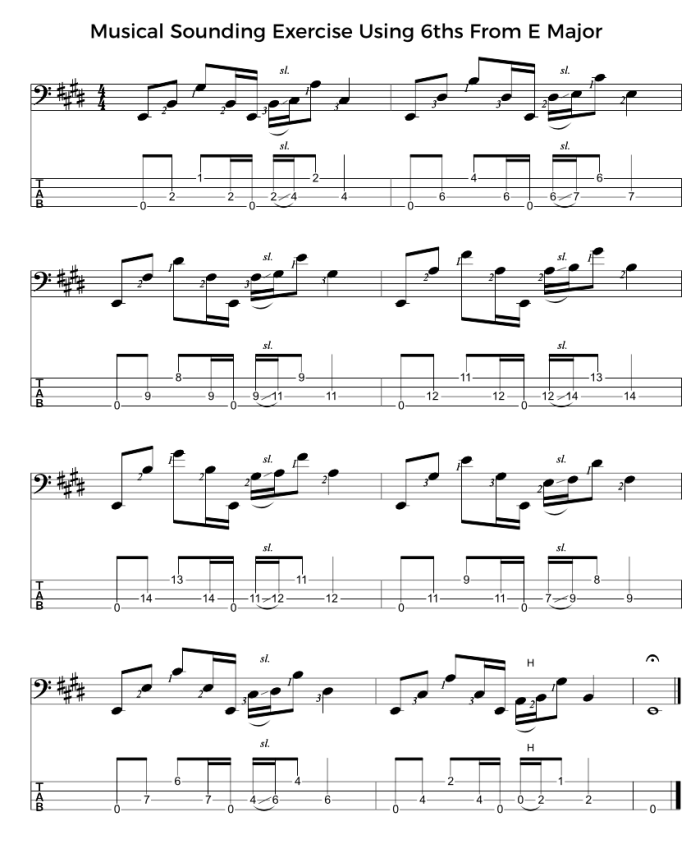 Musical Sounding Exercise Using 6ths From E Major