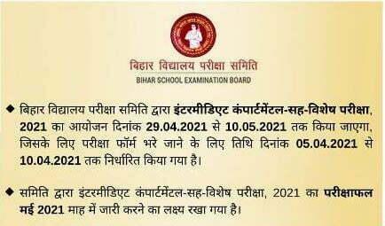 Bihar Board Inter Scrutiny Result 2021