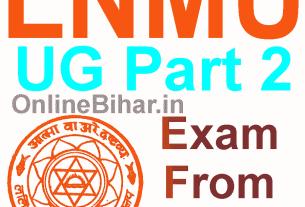 LNMU UG Part 2 Exam From 2019-22