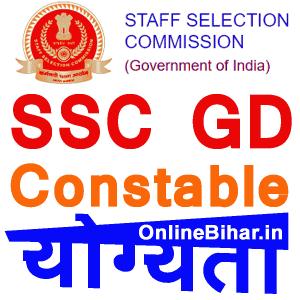 SSC GD Eligibility Criteria 2021