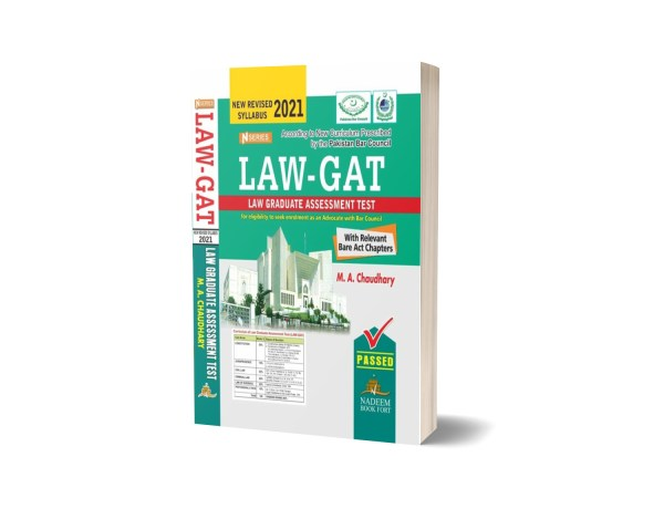 LAW GAT Law Graduate Assessment Test 2021 By MA Chaudhary -Nadeem Book Fort