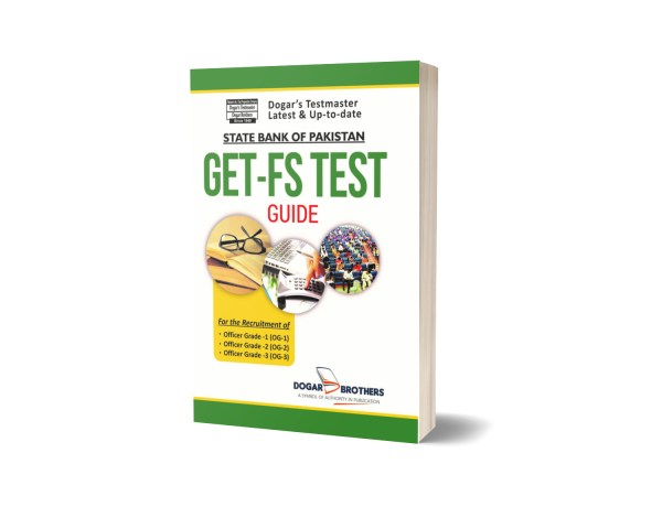 GET-FS Test (State Bank of Pakistan) SBP Book By Dogar Brothers