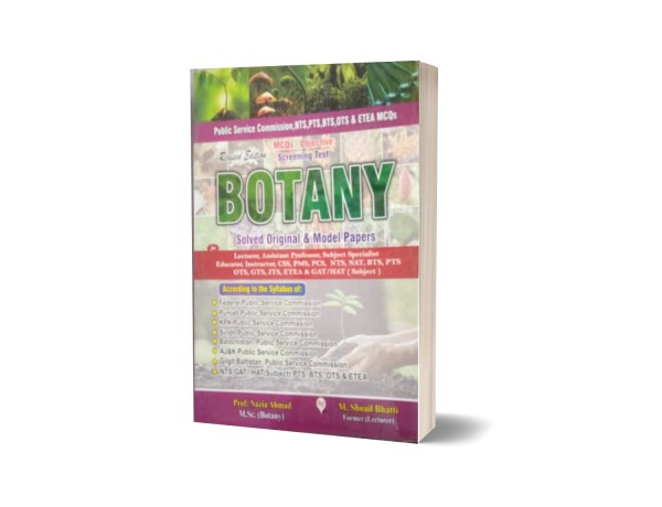 MCQs Objective Screening Test Botany Solved Original Model Paper For Lecturership CSS,PMS,PCS,NTS By Muhammad Sohail Bhatti