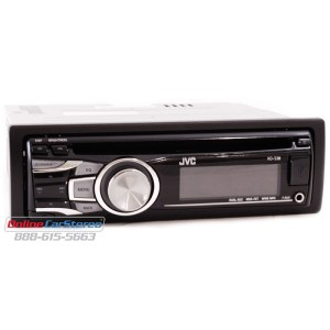 JVC KDS38 InDash CDMP3 Recever with front Aux Input and Wireless Remote at Onlinecarstereo