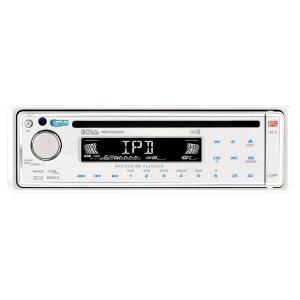 Boss Audio MR1525UI SingleDIN InDash CD, CDRCDRW, MP3, WMA Marine CD Receiver with Full iPod
