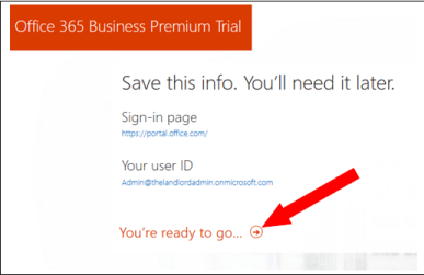 sign up office 365 account