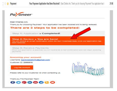How to create Payoneer account