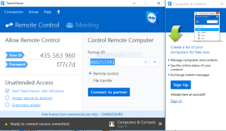 how to use teamviewer to control another computer