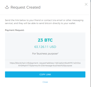 Request Payment on Blockchain