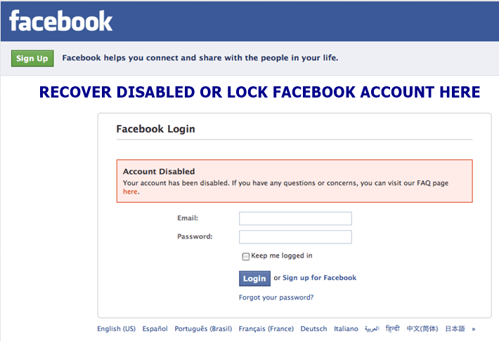 fb account recovery