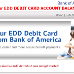 Bank of America : Check EDD Debit Card Balance Account Details