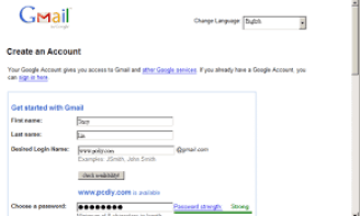 gmail account sign up