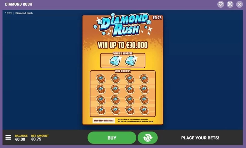Cookie Casino Diamond Rush Krasloten