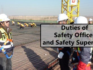 Safety Officer and Safety Supervisor