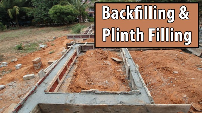 Backfilling and Plinth Filling
