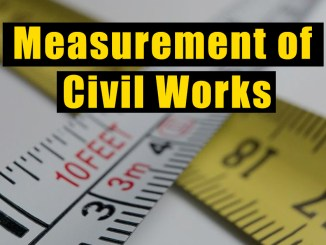 Measurement of Civil Works