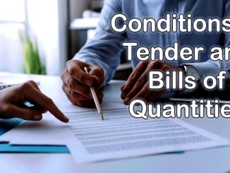 Conditions of Tender and Bills of Quantities