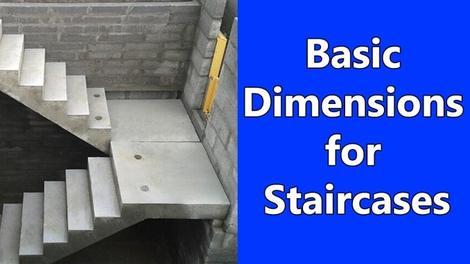 Basic Dimensions for Staircases