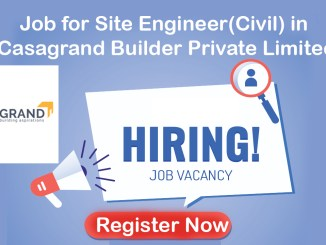 Job for Site Engineer(Civil) in Casagrand