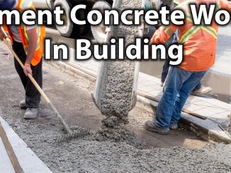 Cement Concrete Work In Building