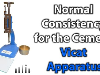 Normal Consistency for the Cement Vicat Apparatus
