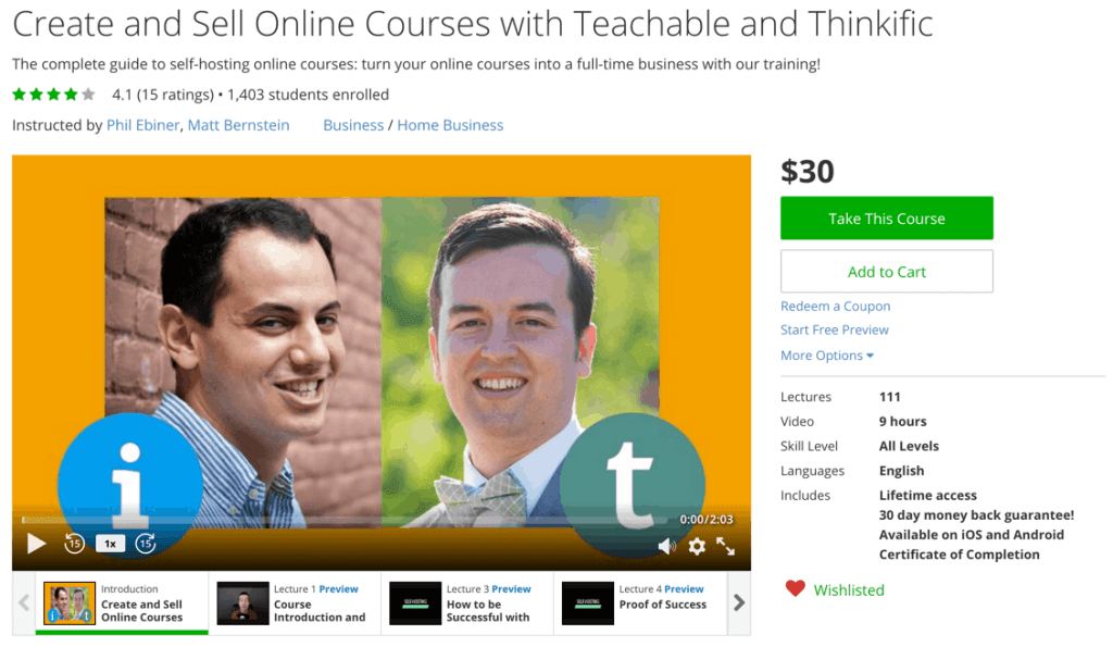 Create and Sell Online Courses with Teachable and Thinkific